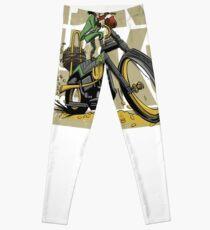 Motorcycle Shirt Born Lucky Leprechaun Leggings