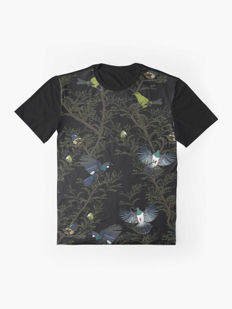 Alternate view of Zealandia Scene - black Graphic T-Shirt