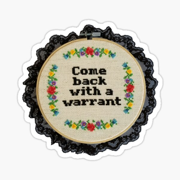 Inappropriate cross stitch WTF mini cross stitch magnet