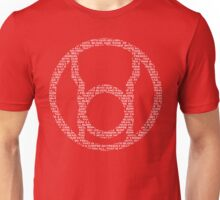 Red Lantern Oath (White) Unisex T-Shirt