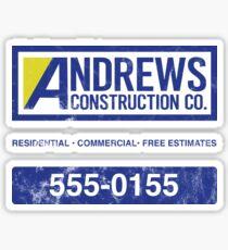 Andrews Construction Co Sticker