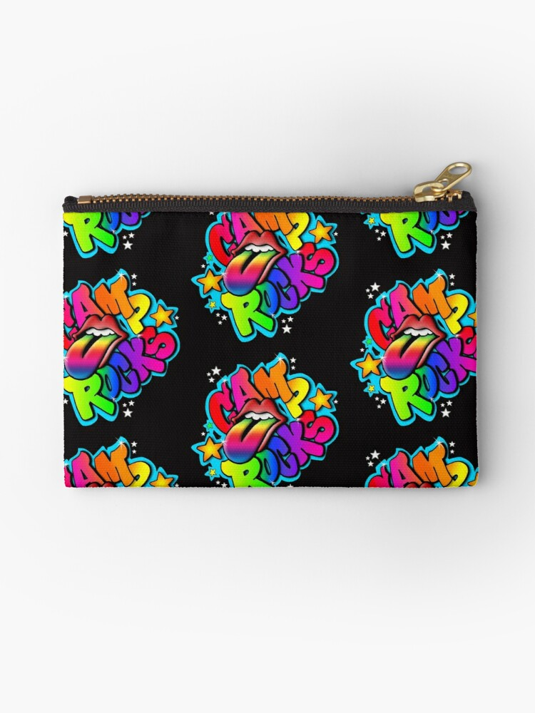 camp rocks studio pouches by staceyz redbubble