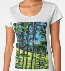 Greywolf Golf Course Summer Painting by Dennis Weber of ShreddyStudio Women's Premium T-Shirt