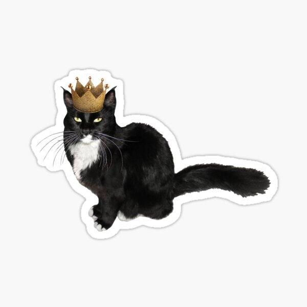 Tuxedo Cat Crown Sticker