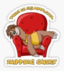 Official Napping Shirt - Lazy Sloth Sticker