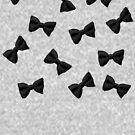 Scattered Bow Ties- Black by Megan  Koth