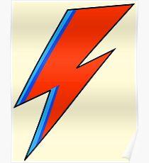 David Bowie Lightning Bolt  Poster