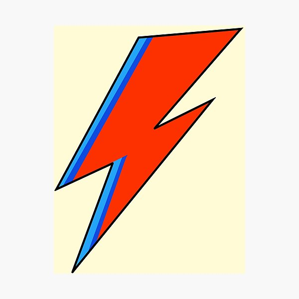 David Bowie Lightning Bolt  Photographic Print