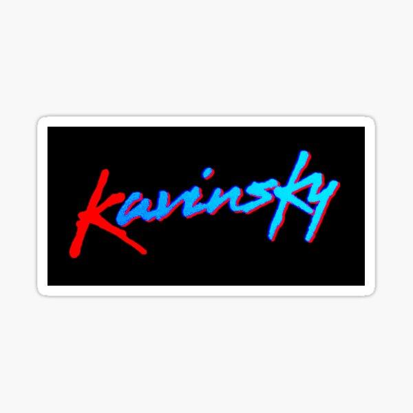 Kavinsky logo sticker Sticker