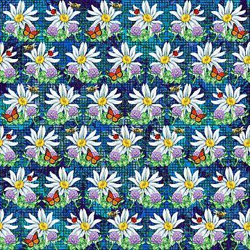 Flowers and bugs pattern by gavila