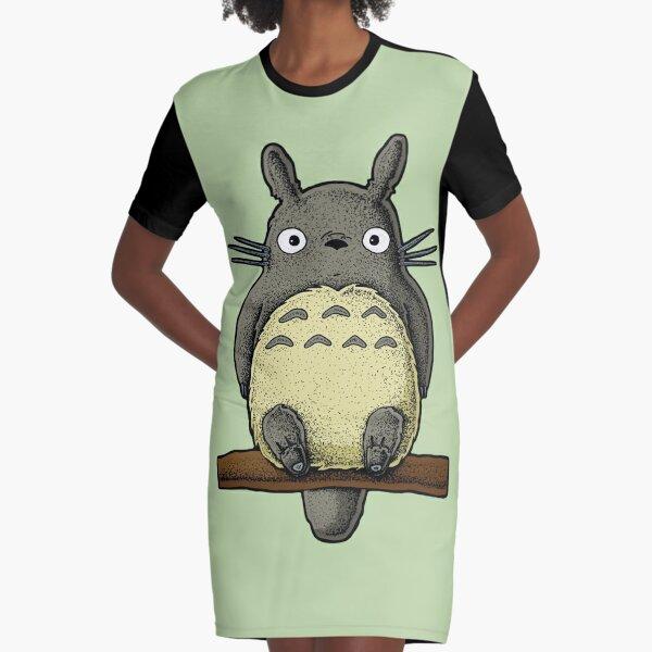 Totoro Fanart Graphic T-Shirt Dress