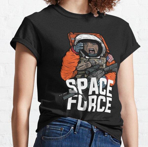 Space Force Astronaut Military Combat Vet Illustration Classic T-Shirt