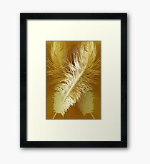 Golden Ostrich Framed Print