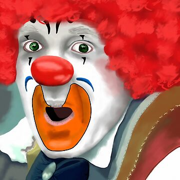 Surprised Clown by 2HivelysArt
