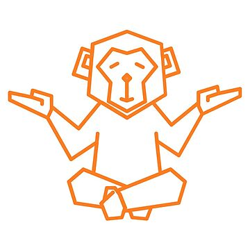 Cutest Little Zen Orange Monkey You Ever Did See by TheMiddleWest