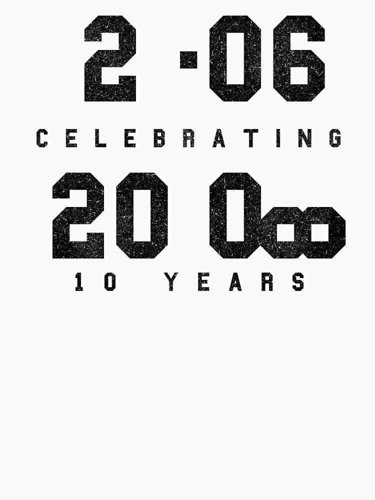 10 Year Anniversary CAD fan shirt - Black text by TalenLee