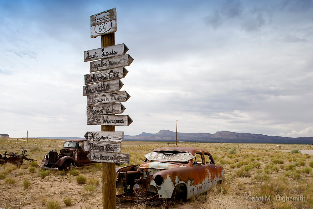 """Route 66 in Arizona Desert"" by Carol M. Highsmith 