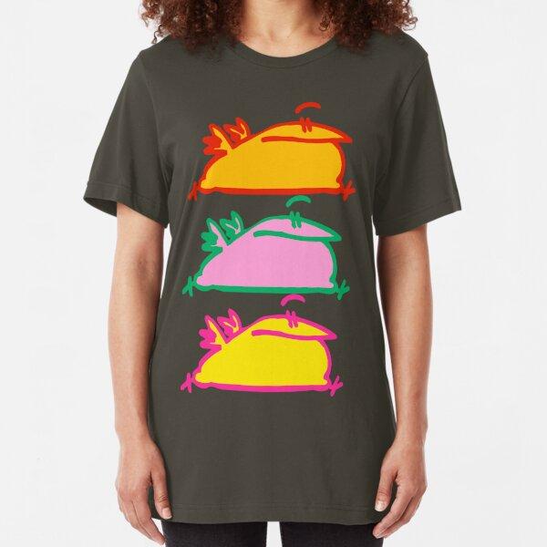 Triple Hurry Cartoon Birds T-Shirt by Cheerful Madness!! Slim Fit T-Shirt