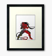 Red Devil's Code Framed Print