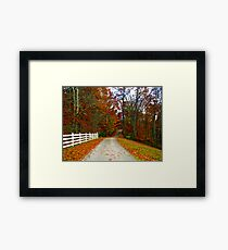 *COUNTRY ROAD* Framed Print