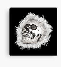 The Spooky Skull Sketch Canvas Print