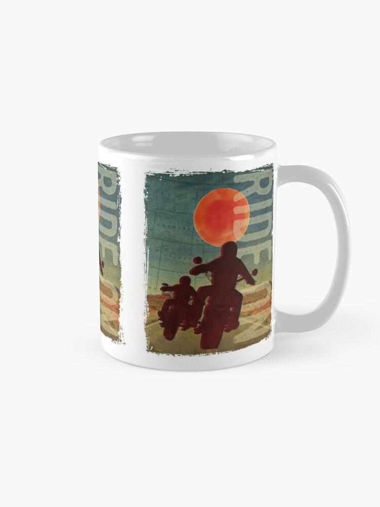 Alternate view of Bikers in the sunset Mug
