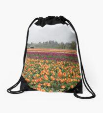 rows of color Drawstring Bag