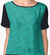 Triangle pattern in Teal Chiffon Top