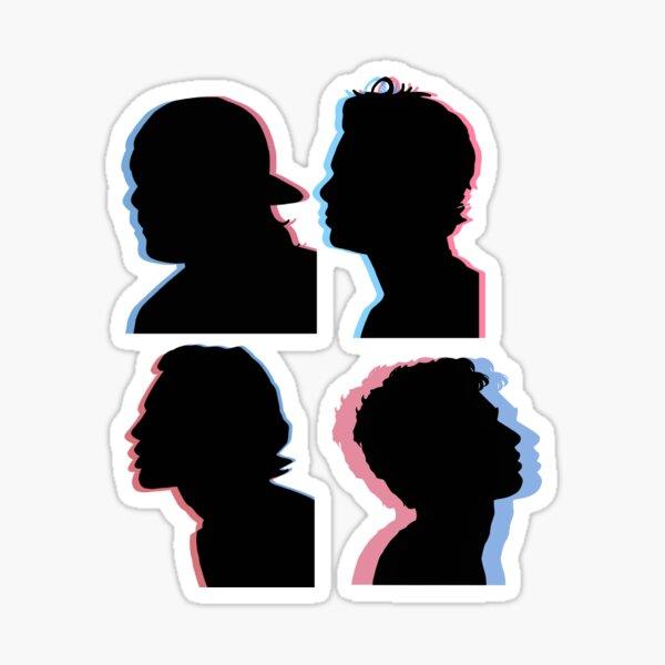 5sos Schattenbild 3d Sticker