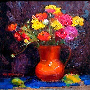 Still Life ~ The Orange Vase by rozmcq