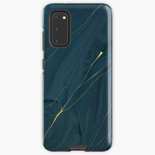 Midnight Blue & Gold Streaks - Iphone & Galaxy Cases Samsung Galaxy Tough Case