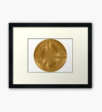 Golden Sphere Digital Design  Framed Print