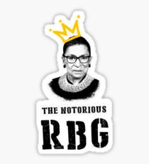 Le t-shirt Notorious RGB t-shirt Ruth Bader Ginsburg je t-shirt dissident Sticker