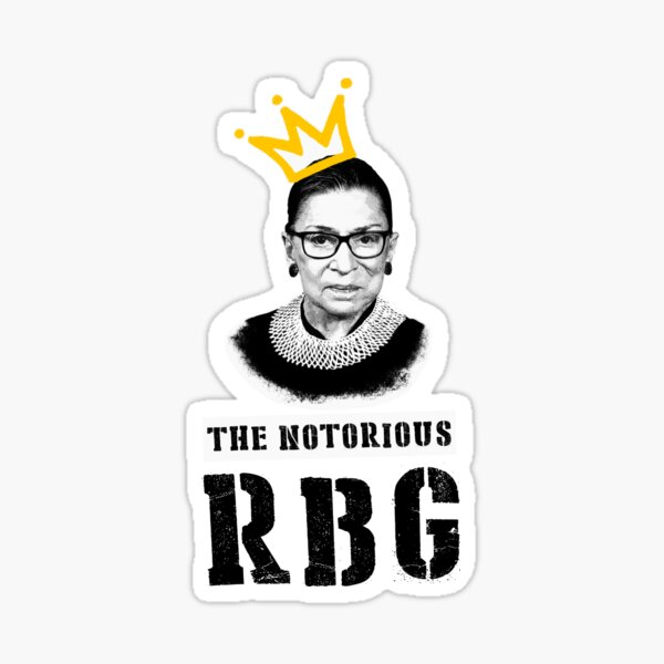 The Notorious RGB tshirt Ruth Bader Ginsburg t shirt I dissent t shirt Sticker