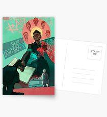DETROIT: Werde ein menschliches Connor Poster Postkarten