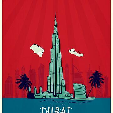 Dubai vintage poster travel by paulrommer