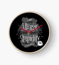Stupidity Allergies Clock