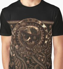 Airship Pirate Badge in Copper Graphic T-Shirt