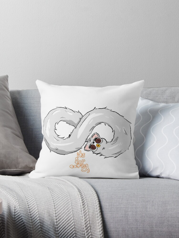 'long furby' Throw Pillow by itsforeating