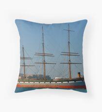 San Francisco Bay Ship Throw Pillow