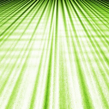 green perspective stripes  by Shoshina