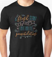 Ein neuer Anfang und unbegrenzte Möglichkeiten Slim Fit T-Shirt