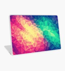 Abstract Polygon Multi Color Cubism Low Poly Triangle Design Laptop Skin