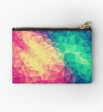 Abstract Polygon Multi Color Cubism Low Poly Triangle Design Studio Pouch