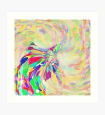 Hiding in color swirl Art Print