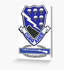 Currahee Patch & Combat Infantry Badge (CIB) Greeting Card