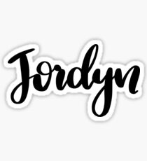 Jordyn  Sticker