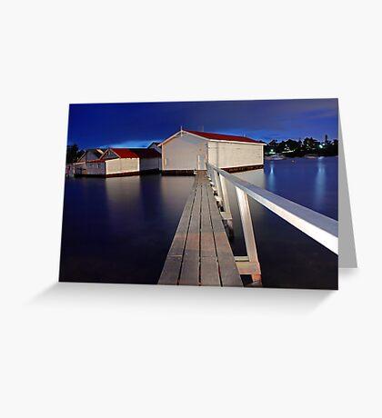 Mosman Bay Boatsheds  Greeting Card
