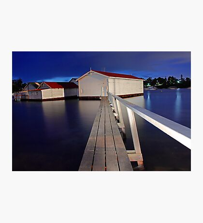 Mosman Bay Boatsheds  Photographic Print