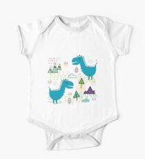 Cool T-rex Fun party teal  #homedecor One Piece - Short Sleeve